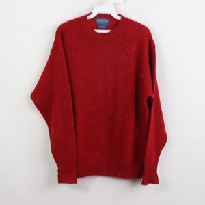 Pendleton Mens Small Shetland Wool Sweater Red